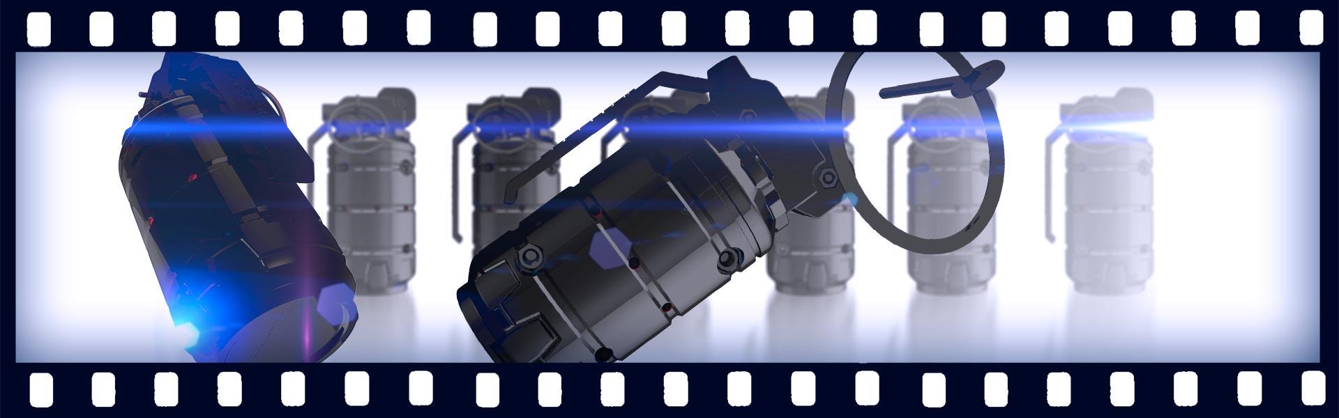 Пояснительная графика о лазертаг-гранате производства ООО «Лазертаг»